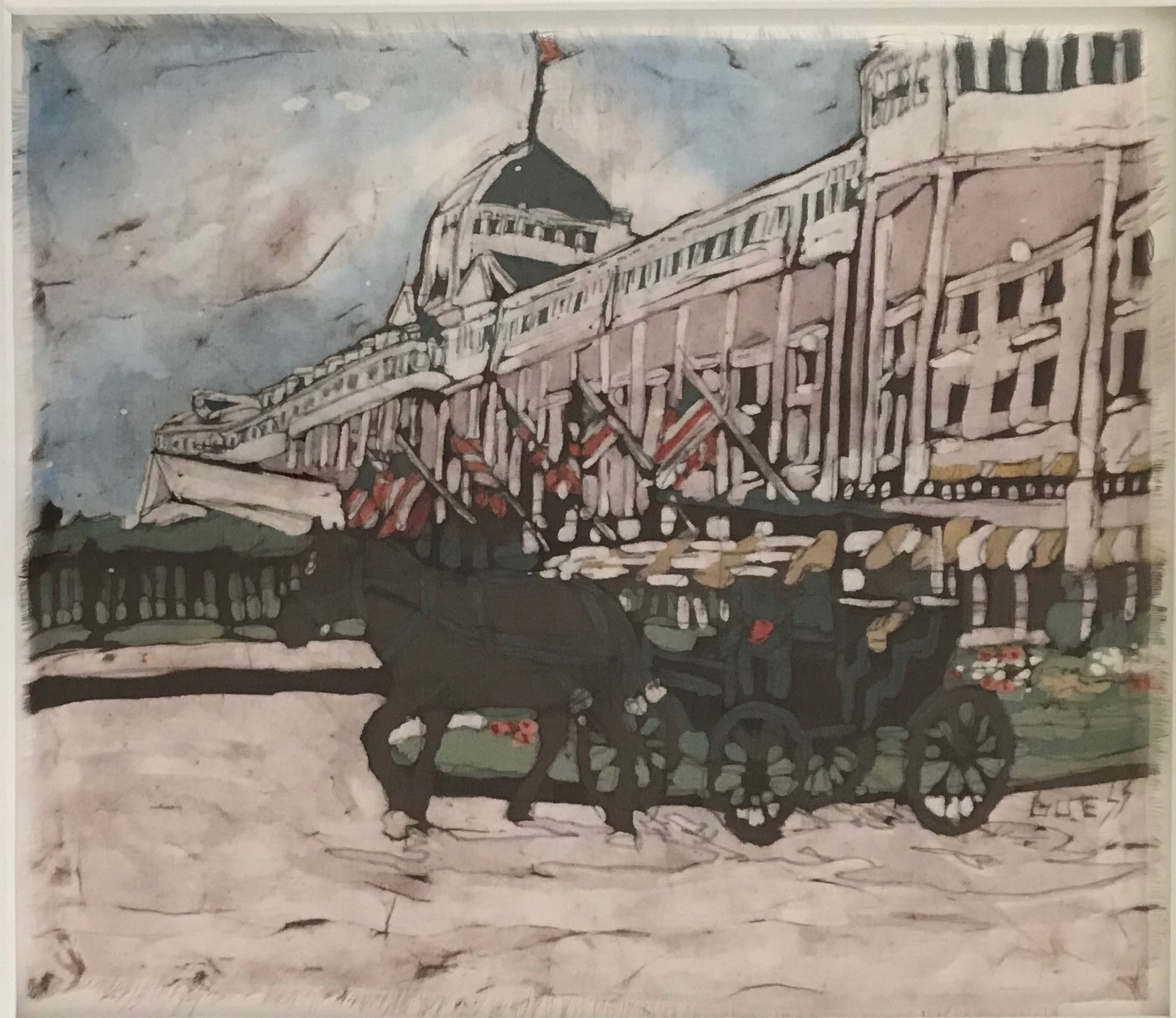 """Batik- """"Carriage Ride by the Grand"""""""