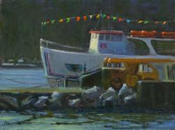 Ferry Flags at Dawn