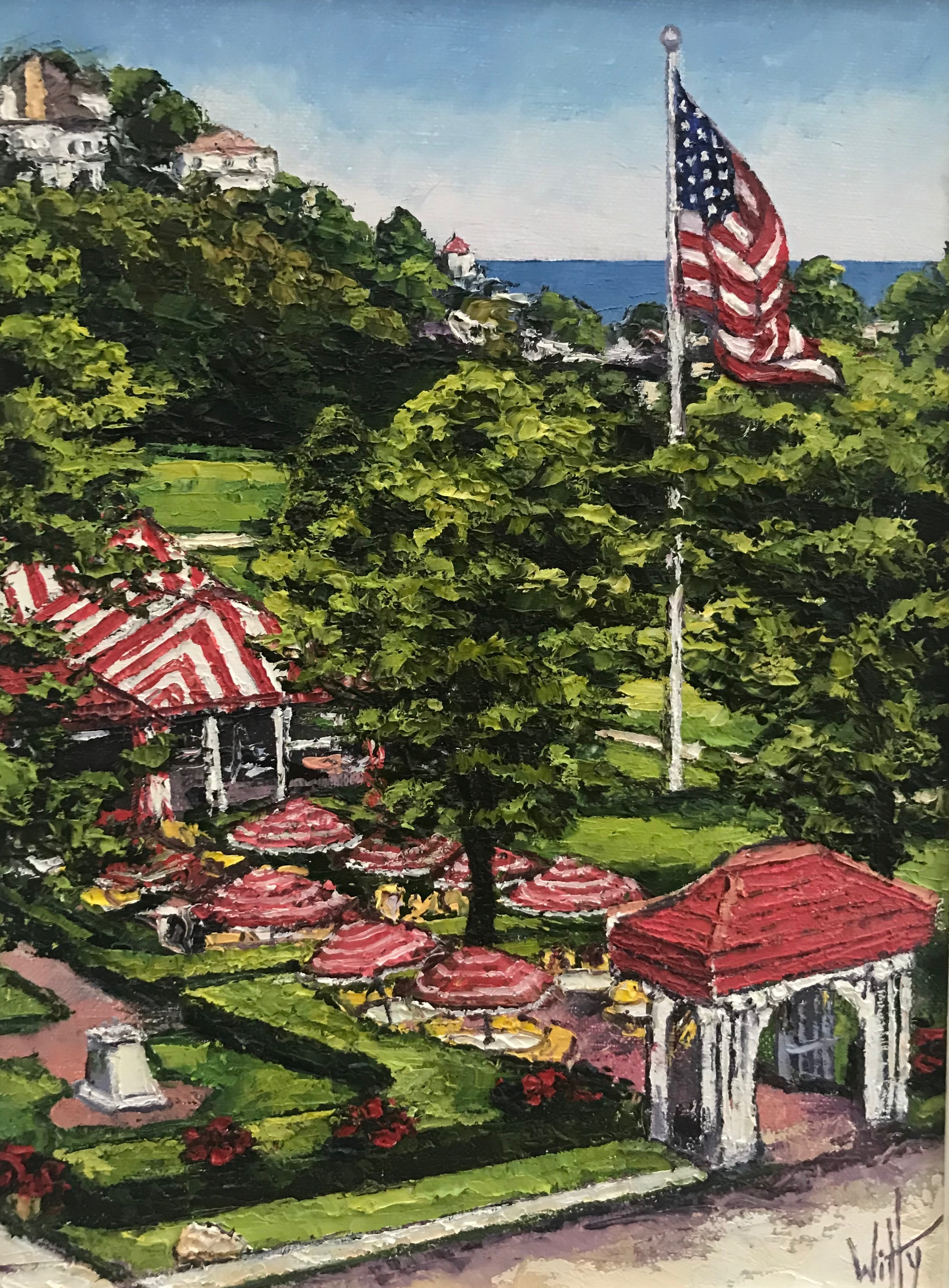 """View of the Jockey Club"" SOLD"