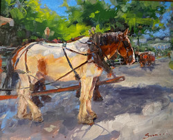 """Oil- """"Moving On"""" SOLD"""