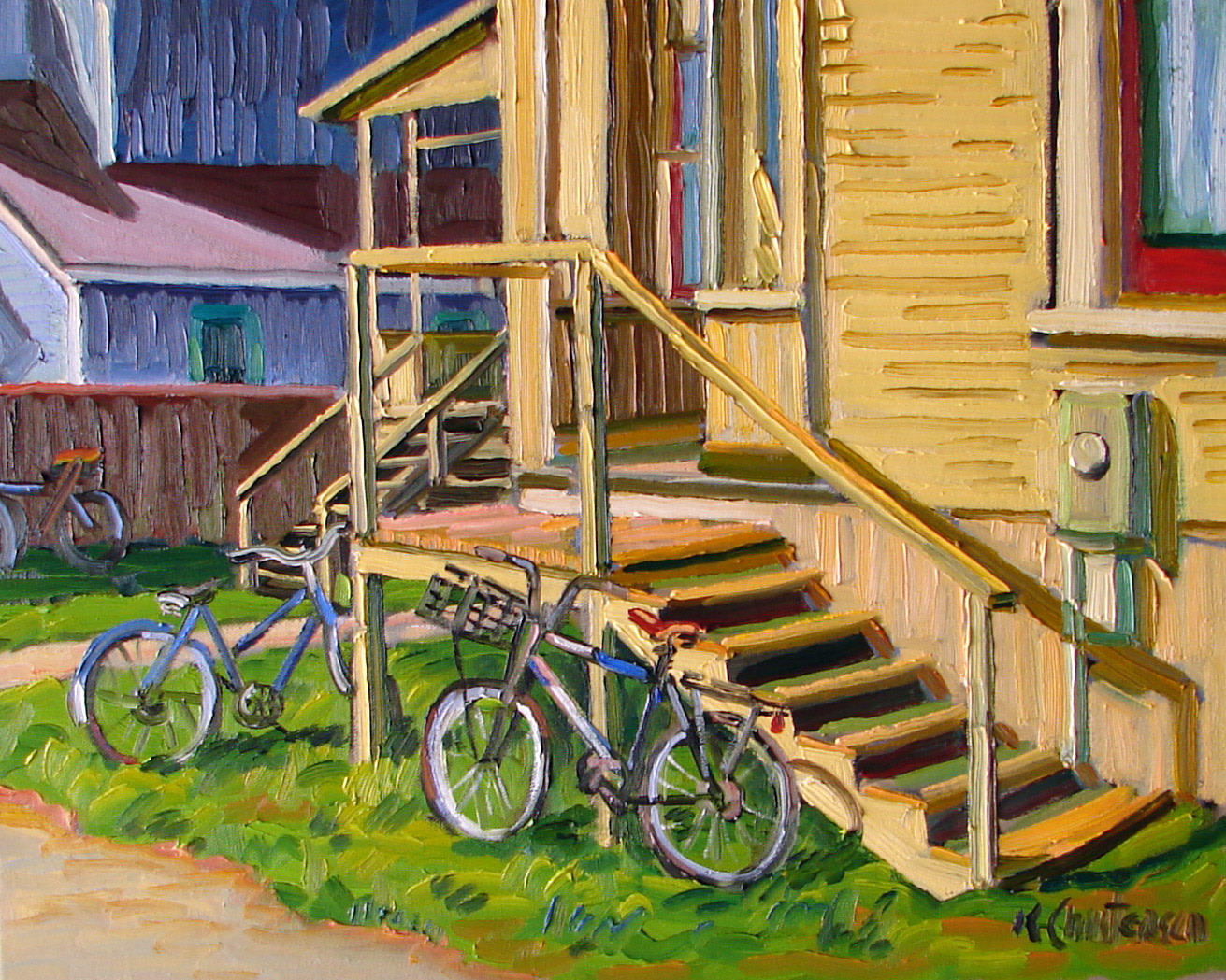 Back Steps and Bikes