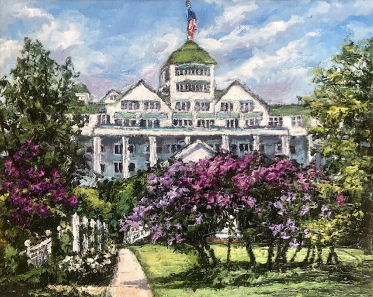 Lilacs and the Grand Hotel-SOLD