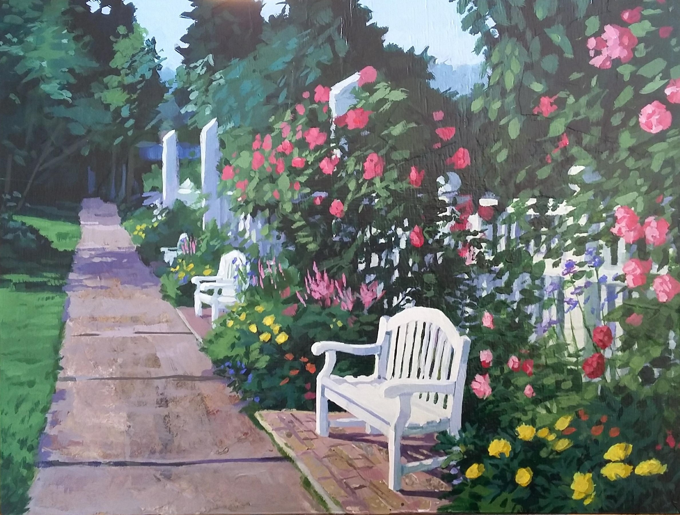 """Collage- """"Walk in the Rose Garden"""""""