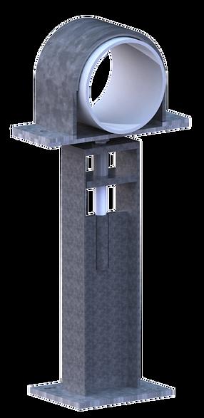 3D ADJ Pipe Clamp WO Shims ISO-1 wo. sha