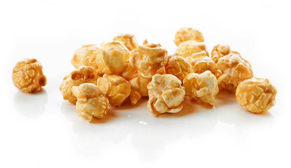 caramel-popcorn-on-white-background-ECGT