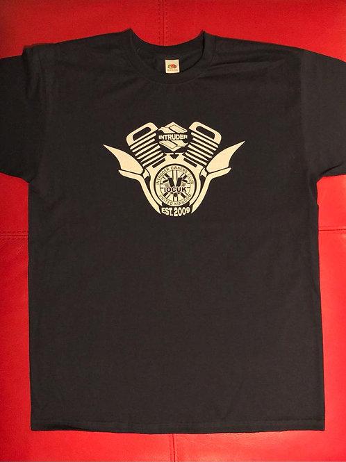 V Twin Logo on a Dark Navy T-shirt