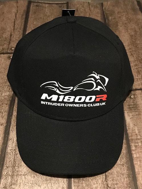 M1800R Red  Logo on a Black Cap