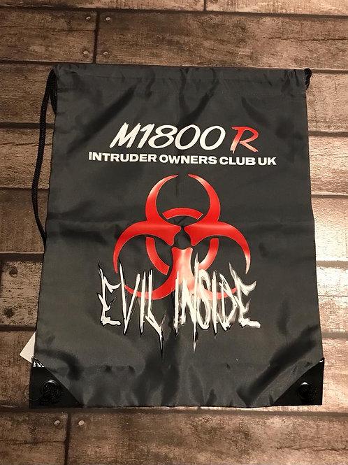 M1800R Red Evil Inside Logo on Graphite Bag