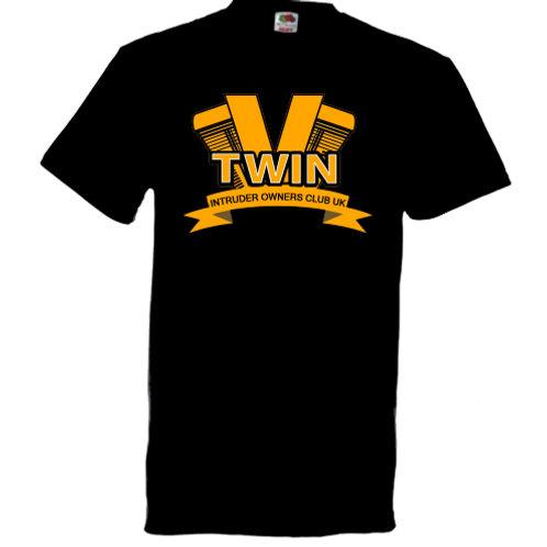 VTWIN Logo on Black T-Shirt