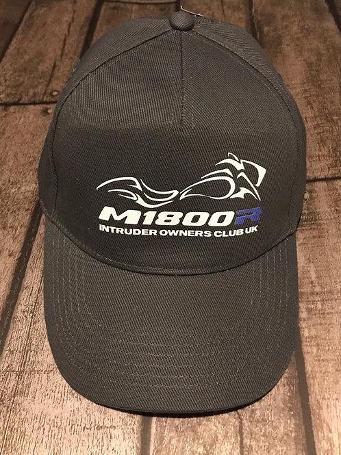 M1800R Blue logo on a Graphite Cap