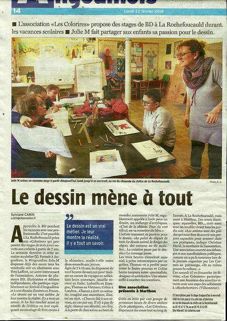 Cours art plastique Angoulême