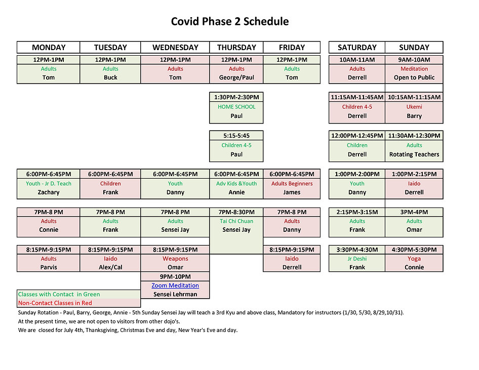 ASNJ SCHEDULE- Covid Phase 2 - Final - w