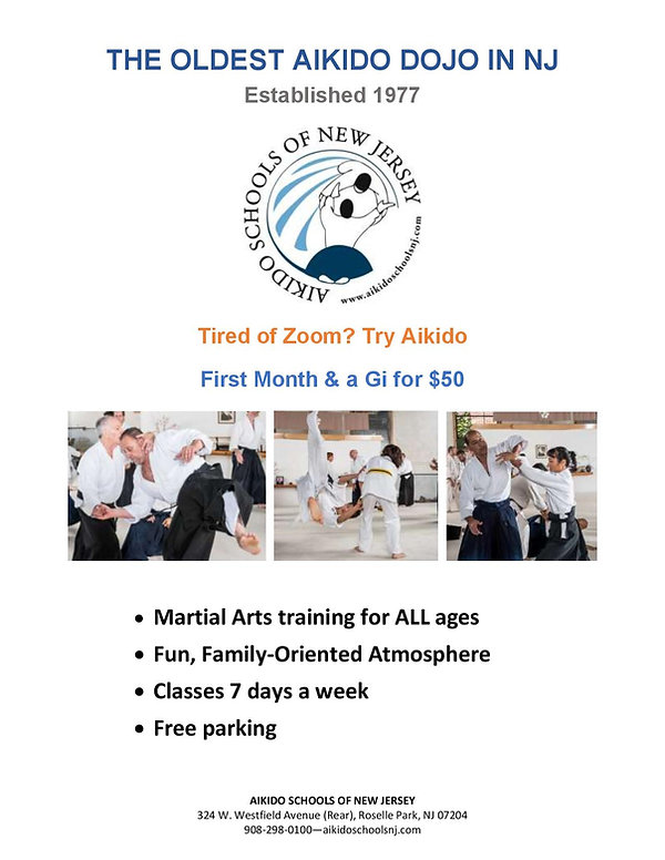 Aikido Schools of New Jersey promo Covid