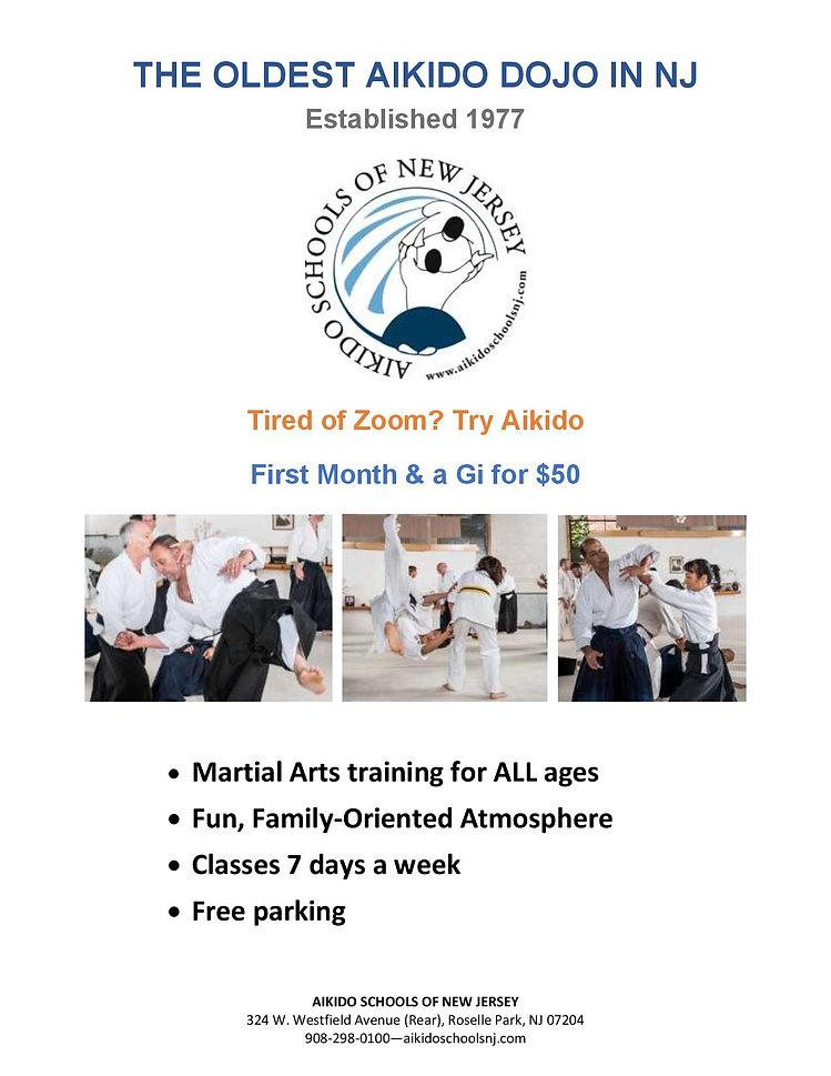 Aikido Schools of New Jersey promo Covid