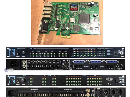 MOTU 2408 mkII & 1224 & 424 PCIe Card  A/D D/A Interface System Bundle 56 chnl