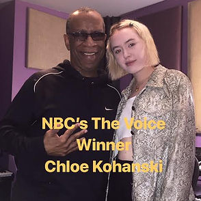 NBC's The Voice Winner Chloe Kohanski with CEO Lee Evan