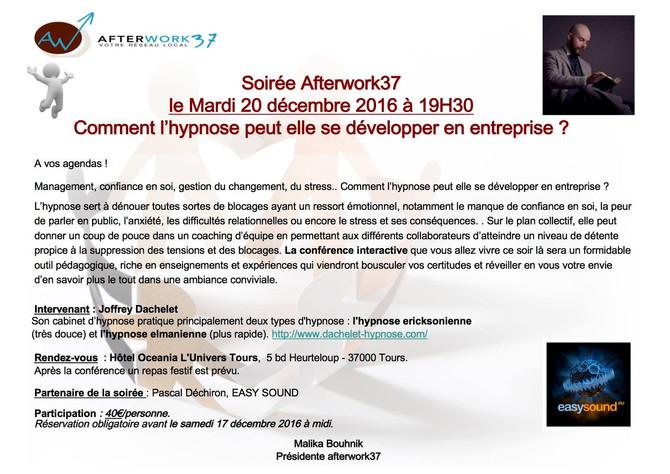 """Conférence """"hypnose & entreprise"""" [20/12/16]"""