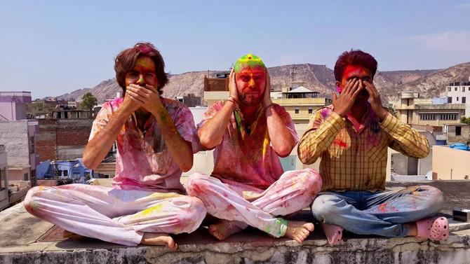 Holi, il y a un an (souvenirs d'Inde)