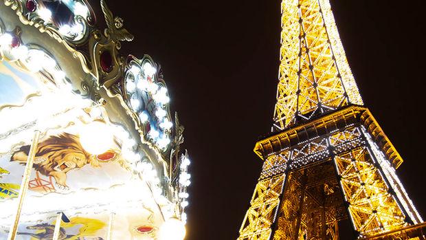 Eiffel Tower and wheel