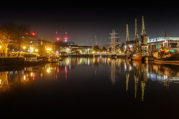 Harbourside at night