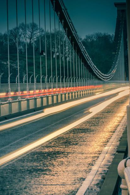 Suspension Bridge Light Trails