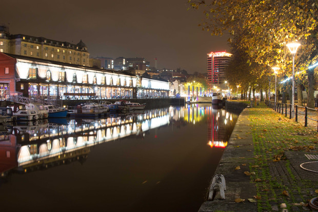 Watershed at night