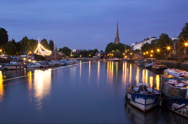 Towards St Mary Redcliffe