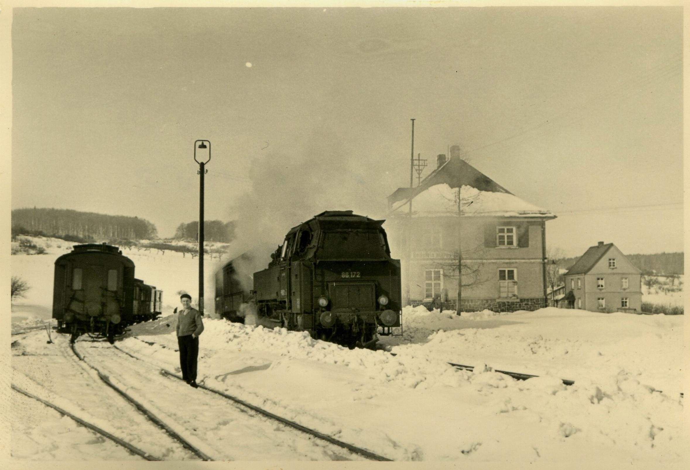 Bahnhof-Beilstein im Winter