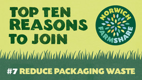 Top Ten Reasons to join Norwich FarmShare – #7 Reduce packaging waste