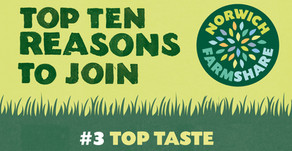 Top Ten Reasons to join Norwich FarmShare – #3 Top Taste