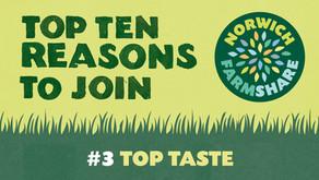Top Ten Reasons to join Norwich FarmShare – #3 Top Taste