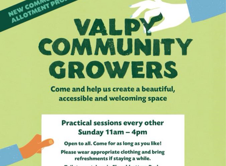 Come and join us for work sessions at Valpy Avenue