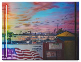 """LA Sunset Oil on canvas 53.5"""" x 71.5"""""""