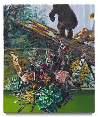 "Still life with shishkin, 2020 Oil on canvas 21"" x 18"""