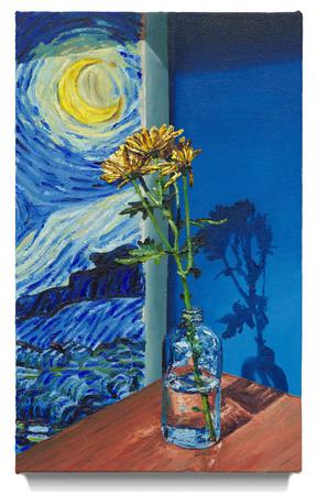 "Still life with Van Gogh, 2020 Oil on canvas 20"" x 12"""