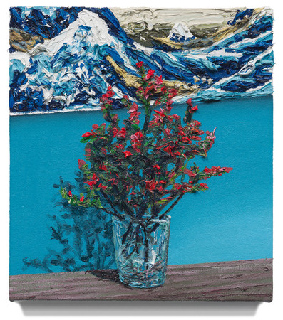 """Still life with Hokusai, 2020 Oil on canvas 12"""" x 10"""""""