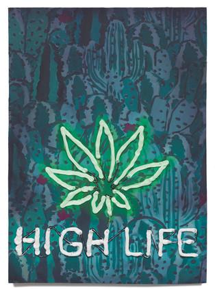 "High Life, 2020 Oil on plywood 18"" x 13"""