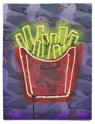 French Fries, 2020 Oil on plywood