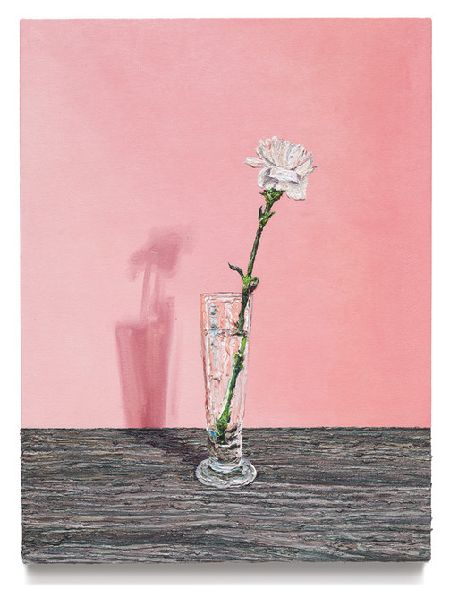 """Flower in glass, 2019 Oil on canvas 25"""" x 19"""""""