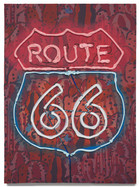 """Route 66, 2020 Oil on plywood 18"""" x 13.25"""""""