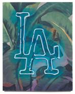 """LA, 2020 Oil on plywood 15.25"""" x 12"""""""