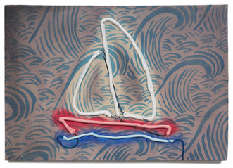 """Boat, 2020 Oil on plywood 11"""" x 15.5"""""""