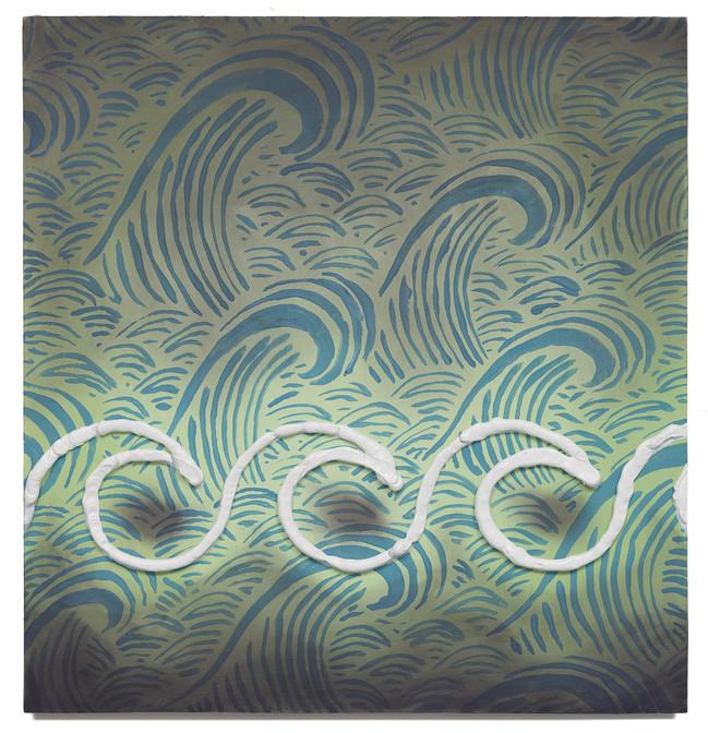 Waves, 2020 Oil on plywood