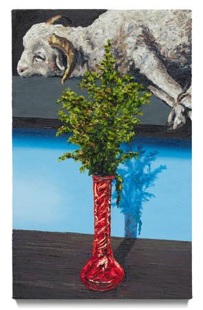 """Still life with Zurbarán, 2020 Oil on canvas 20"""" x 12"""""""