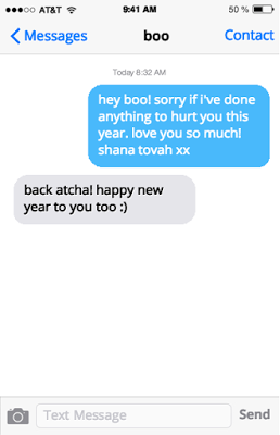 sorry text