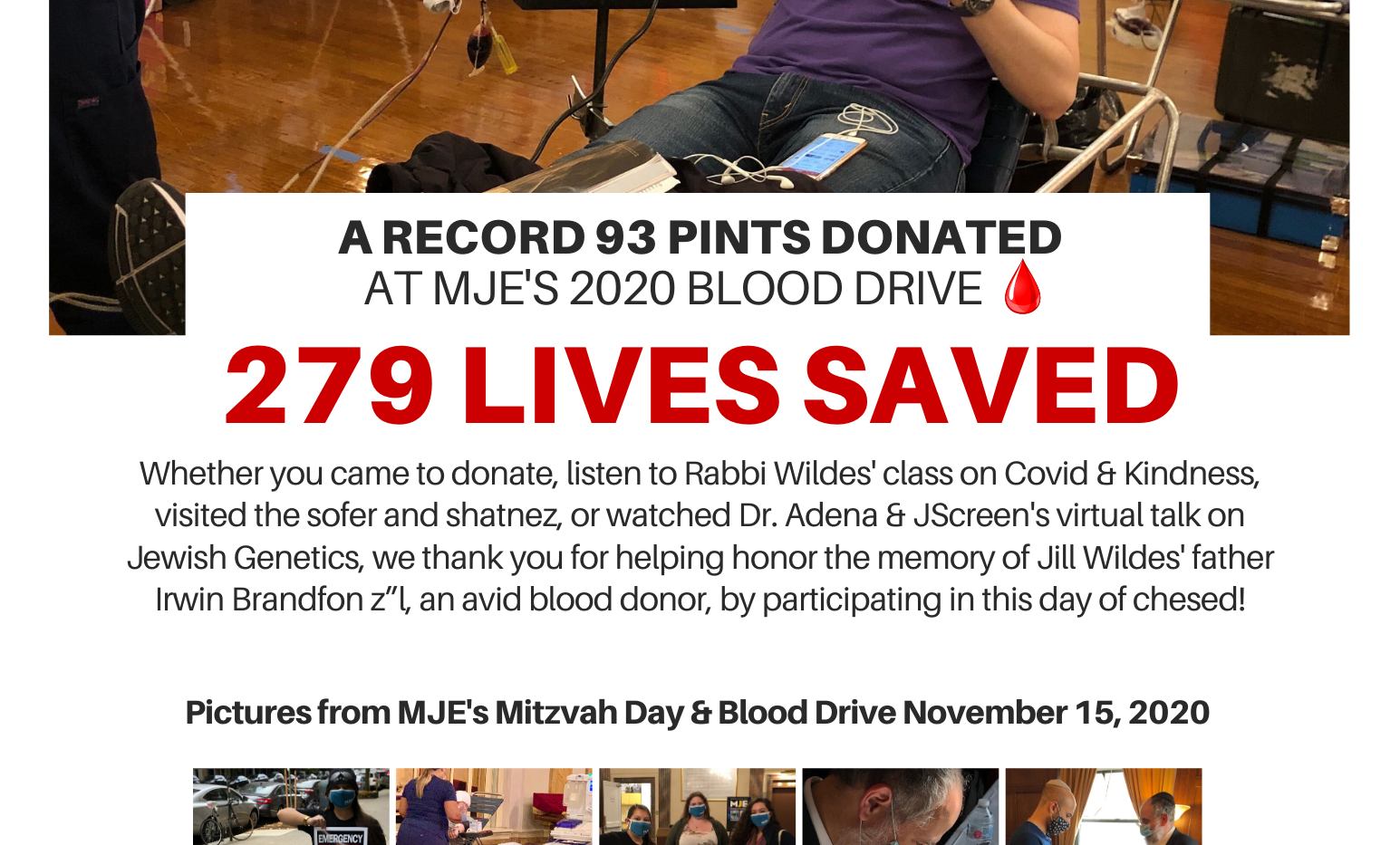 Blood Drive & Mitzvah Day 8.5x11 Thank Y