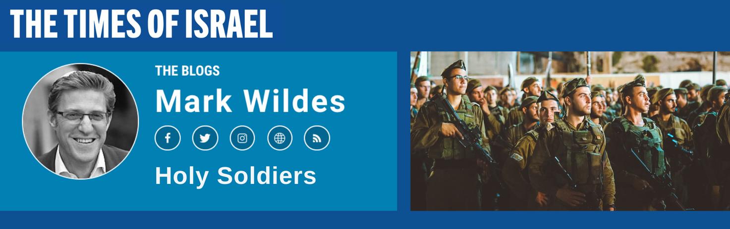 Rabbi Wildes Blog Times of Israel Slider
