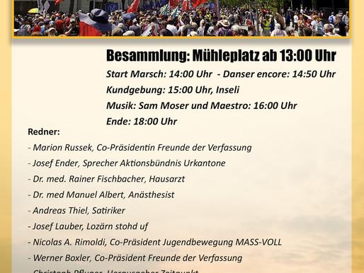 Auf nach Luzern zum Widerstand gegen die Coronapolitik!