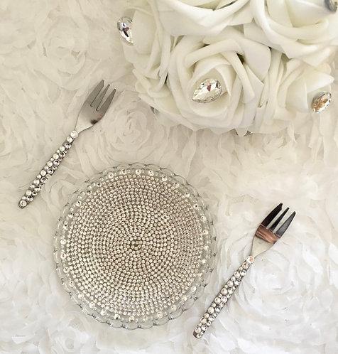 Ensemble assiette mini fourchette