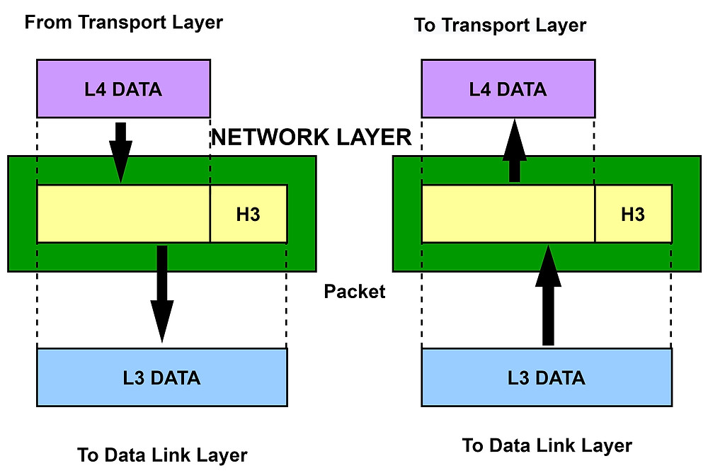 Transmission of Packets from the Network Layer
